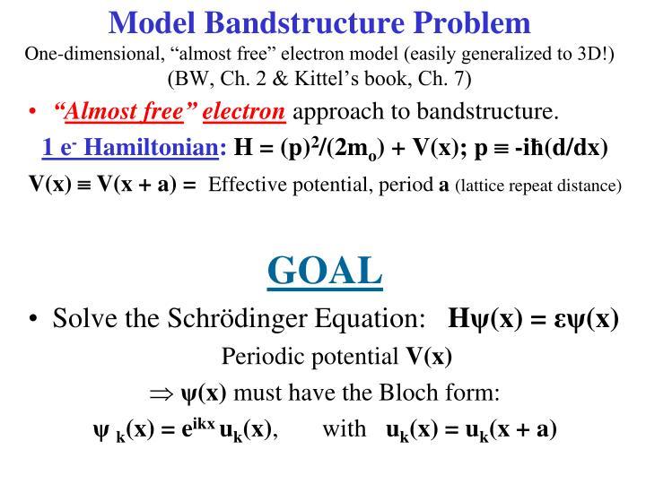 Model Bandstructure Problem