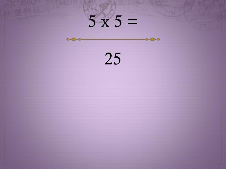 5 x 5