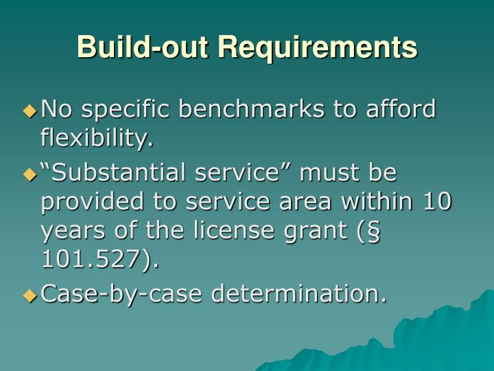 Build-out Requirements