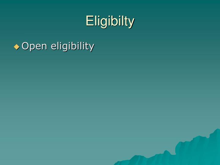 Eligibilty