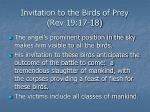 invitation to the birds of prey rev 19 17 18