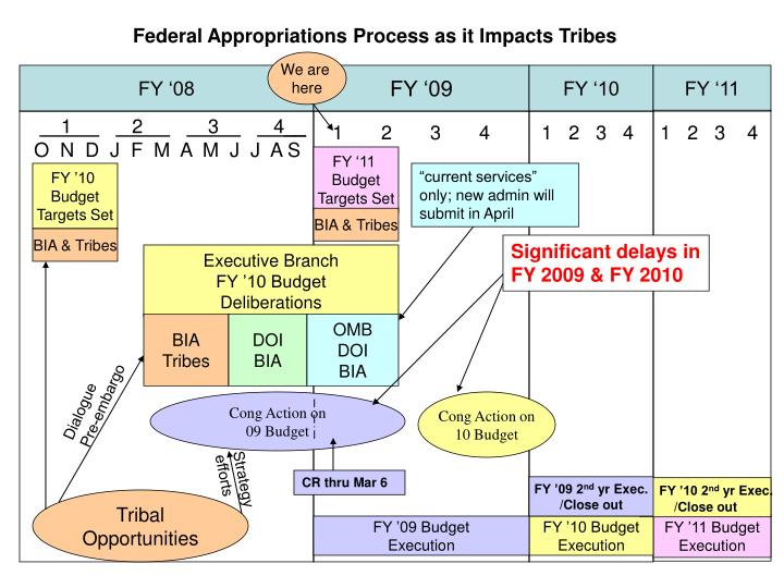 Federal Appropriations Process as it Impacts Tribes