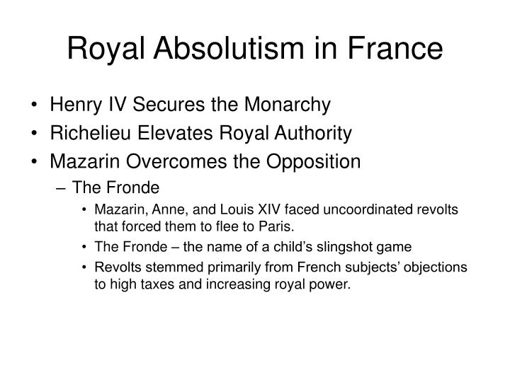 Royal Absolutism in France