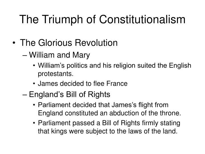 The Triumph of Constitutionalism
