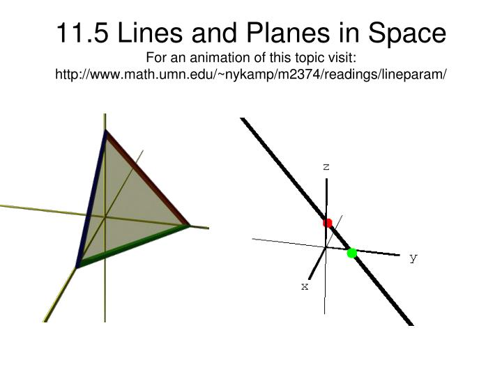 lines and planes in space