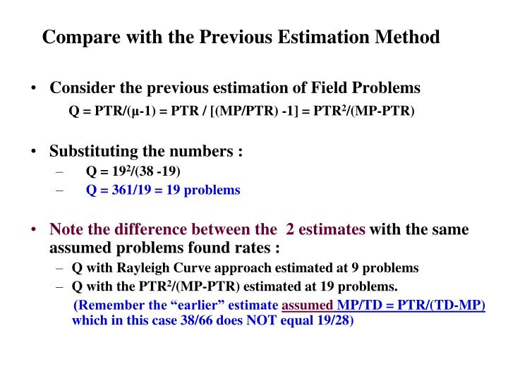 Compare with the Previous Estimation Method