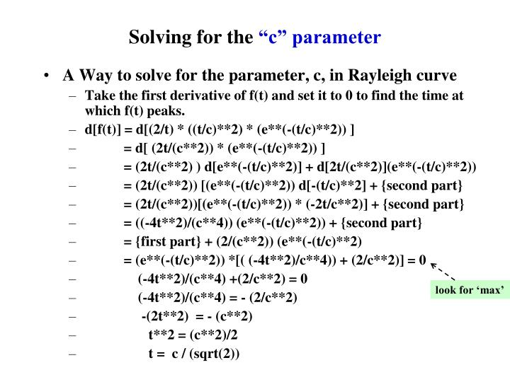 Solving for the