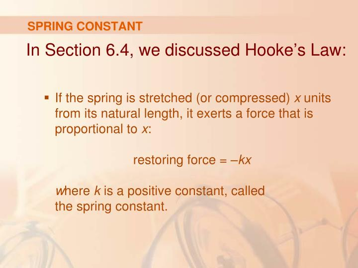 SPRING CONSTANT