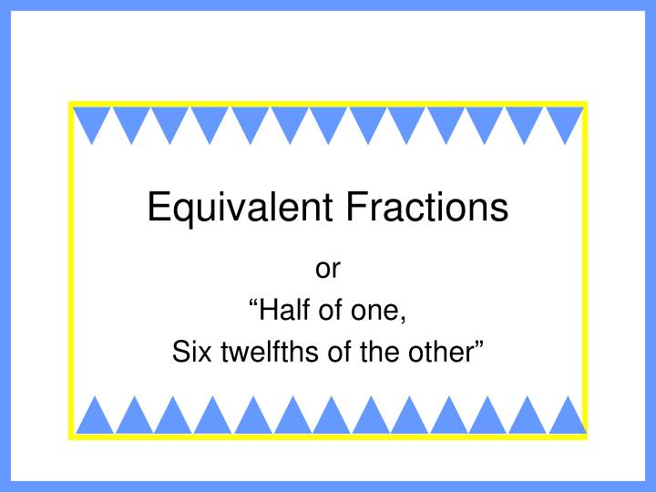 equivalent fractions n.