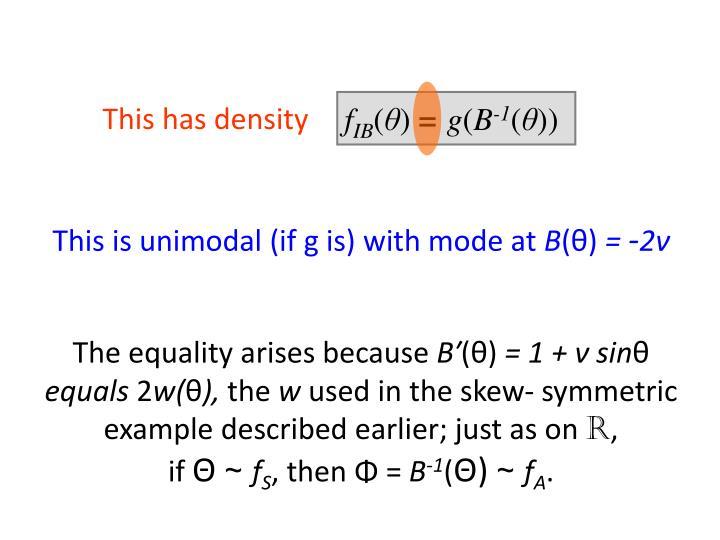 This has density
