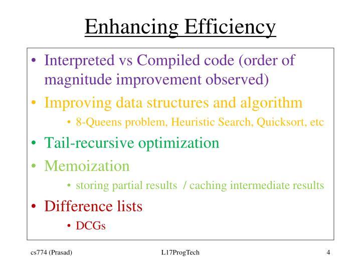 Enhancing Efficiency