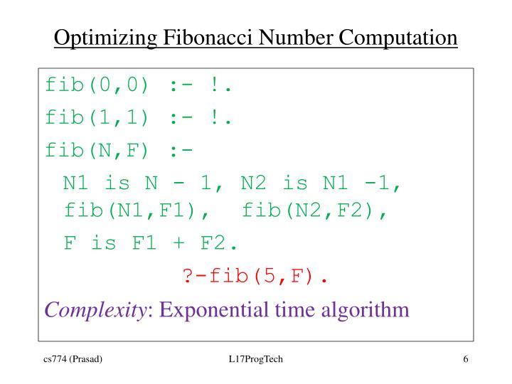 Optimizing Fibonacci Number Computation
