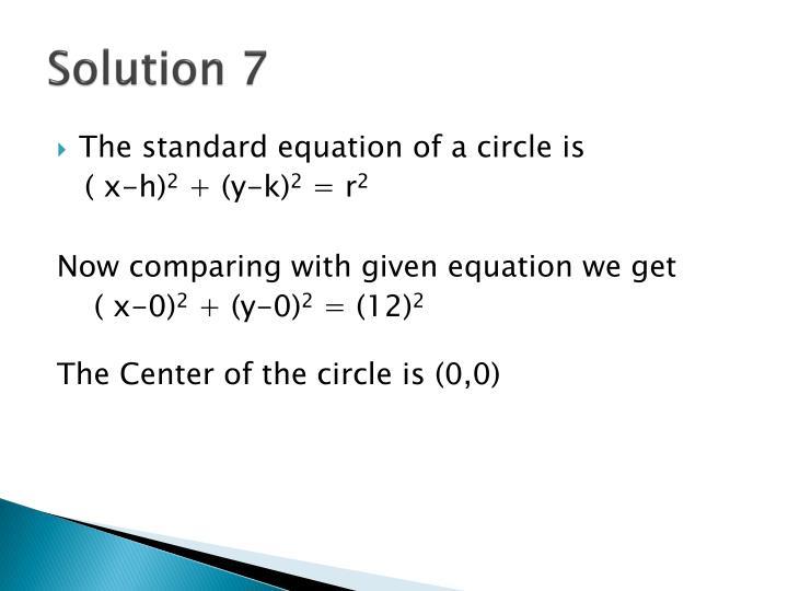 Solution 7