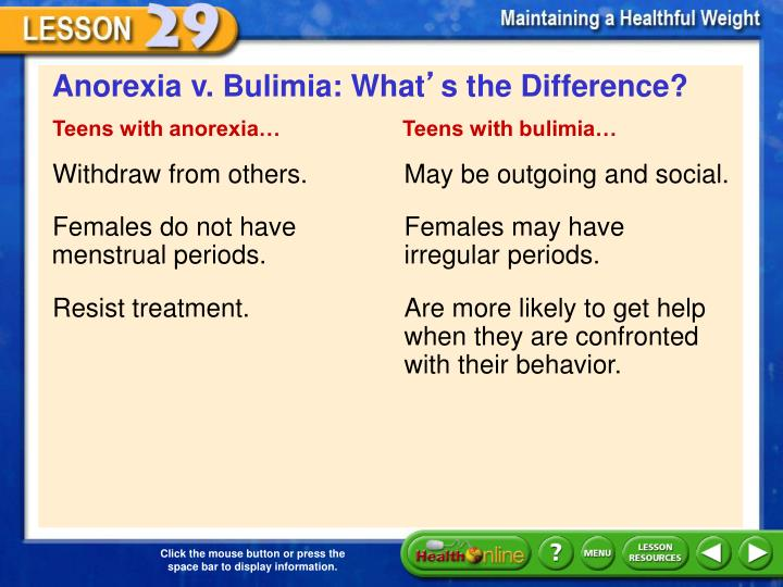 Anorexia v. Bulimia: What