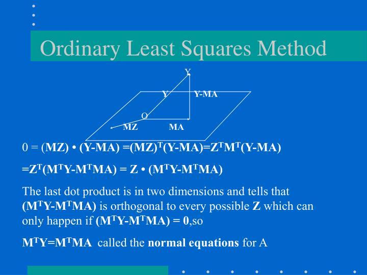 Ordinary Least Squares Method