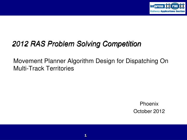 2012 ras problem solving competition n.
