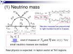 1 neutrino mass