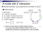 a model with z interaction