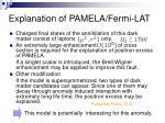 explanation of pamela fermi lat