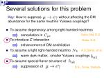 several solutions for this problem