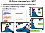 multivariate analysis bdt