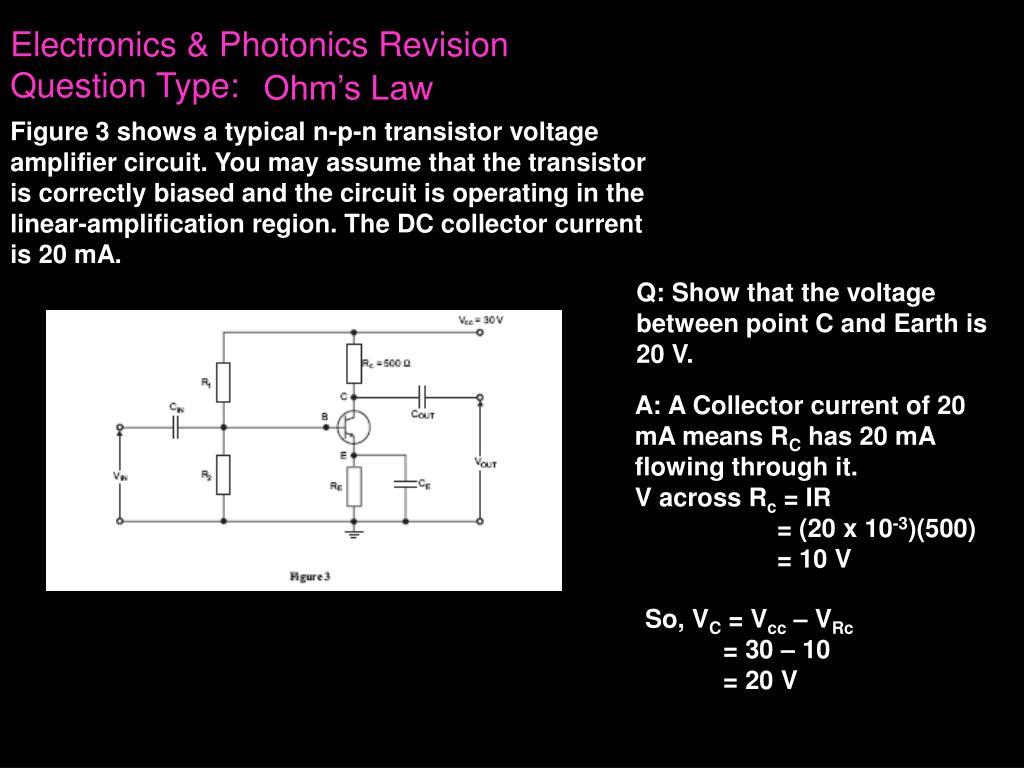ppt vce physics powerpoint presentation id 6299557electronics \u0026 photonics revisionquestion type ohm\u0027s