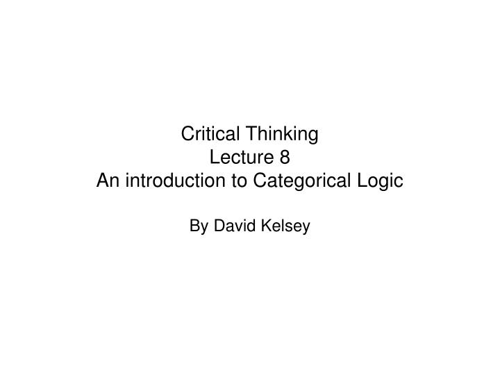 critical thinking introduction to animals Critical thinking is the objective analysis and evaluation of an issue or situation in order to for an accurate or rightful judgment a person with this skill is highly regarded and prospers under different conditions.