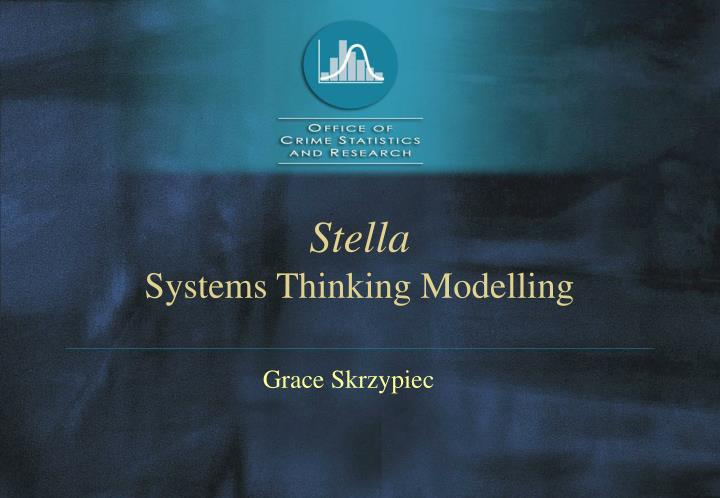 Stella systems thinking modelling