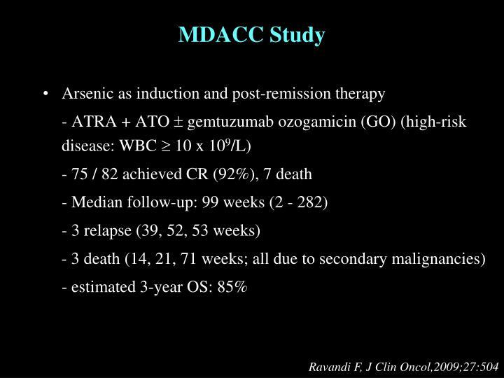 MDACC Study