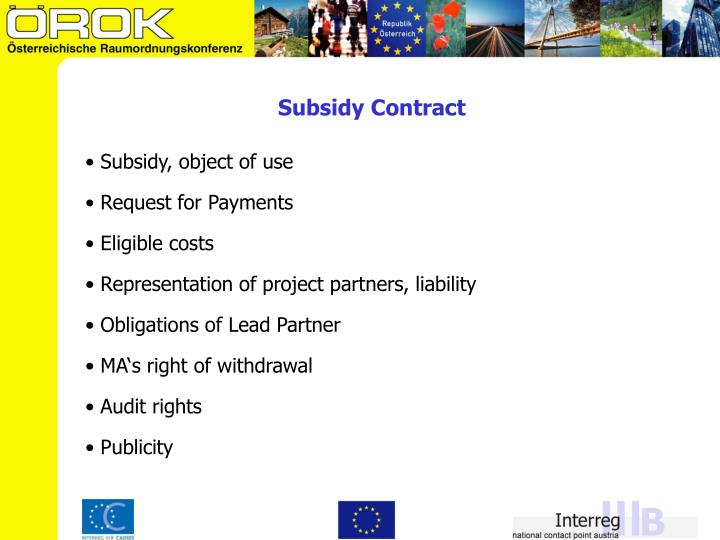 Subsidy Contract