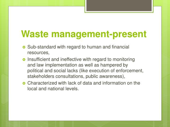 Waste management present