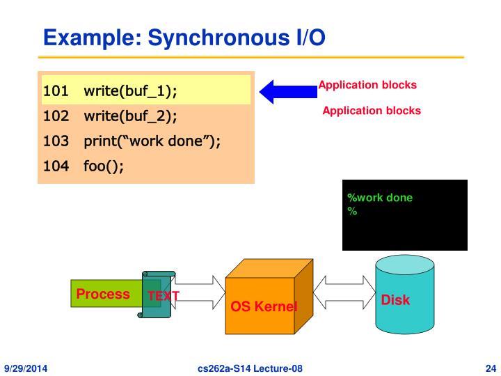 Example: Synchronous I/O