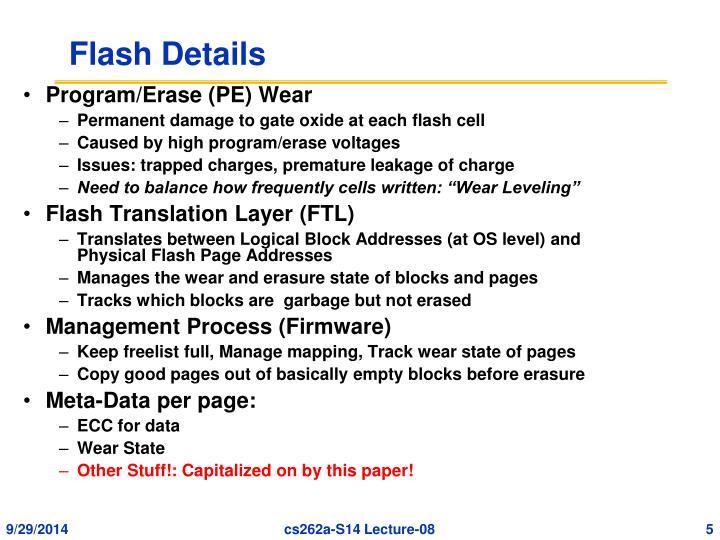 Flash Details