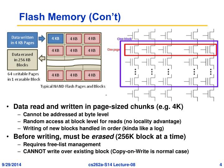 Flash Memory (Con't)