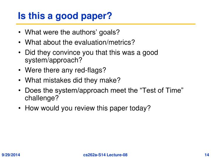 Is this a good paper?