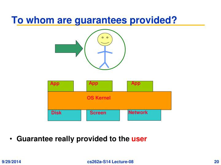 To whom are guarantees provided?