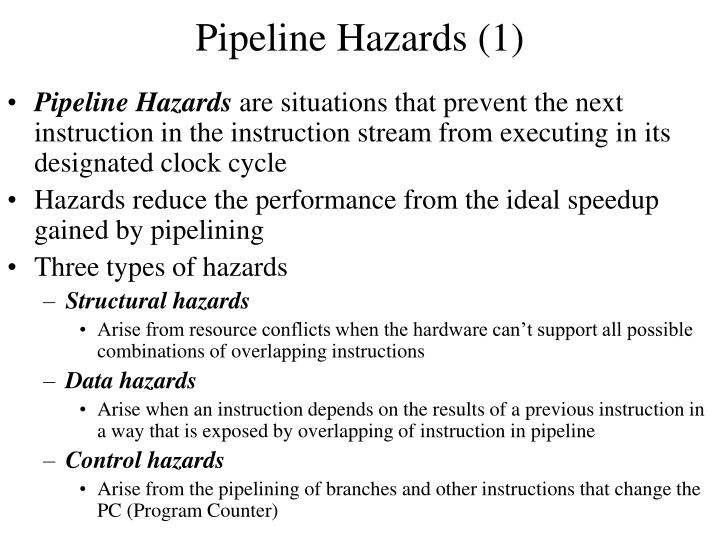 Pipeline hazards 1