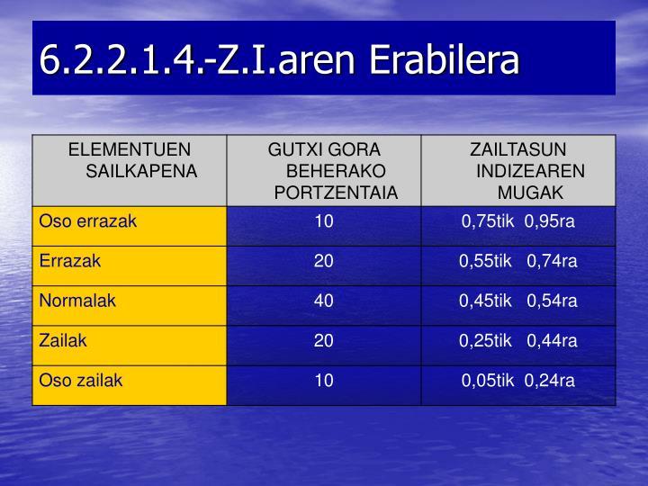 6.2.2.1.4.-Z.I.aren Erabilera