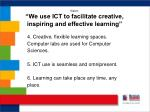 vision we use ict to facilitate creative inspiring and effective learning1