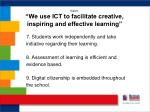 vision we use ict to facilitate creative inspiring and effective learning2