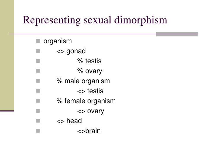 Representing sexual dimorphism