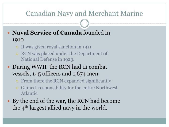Canadian Navy and Merchant Marine