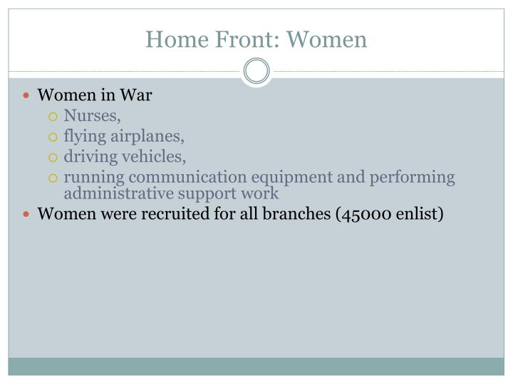 Home Front: Women