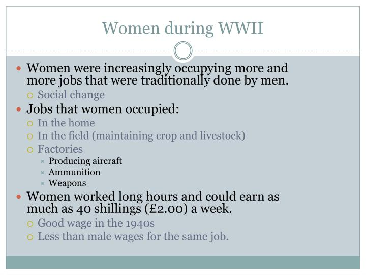 Women during WWII