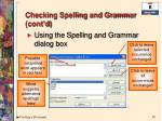 checking spelling and grammar cont d3