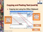 copying and pasting text cont d1