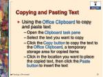 copying and pasting text1
