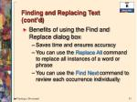 finding and replacing text cont d1
