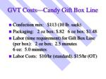 gvt costs candy gift box line