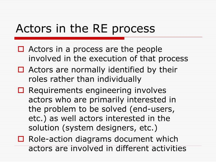 Actors in the RE process